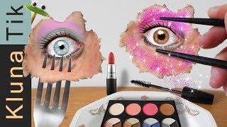 Eating REAL MAKEUP!! Kluna Tik Dinner  | ASMR eating sounds DIY make-up life hack / tutorial / steps