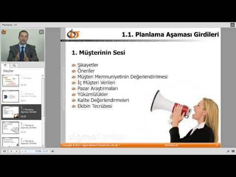 sigmaCenter Online İleri Ürün Kalite Planlaması (APQP) Eğitimi Tanıtım Videosu - 03