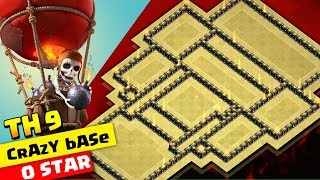 TOWNHALL 9 WAR BASE 2018 (TH9) | cRazy BaSe | Anti All | Clashofclans