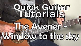 The Avener & Kim Churchill - Window to the sky (Quick Guitar Tutorial + Tabs)