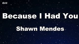 Because I Had You - Shawn Mendes Karaoke 【No Guide Melody】 Instrumental