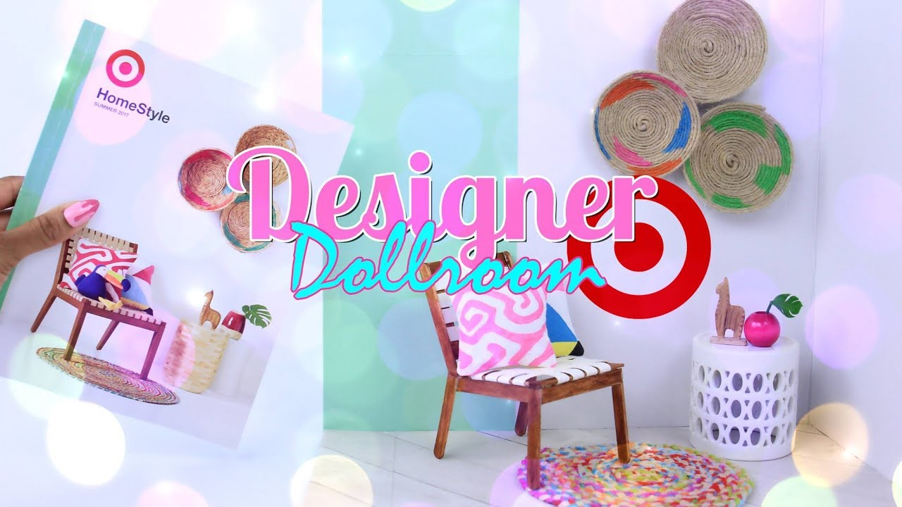 DIY - How to Make: Designer Doll Room | Make a Doll Room from a Target Catalog