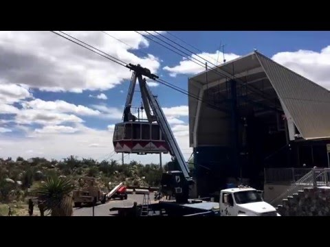 Time-lapse of Sandia Peak Aerial Tram car coming down after 30 years