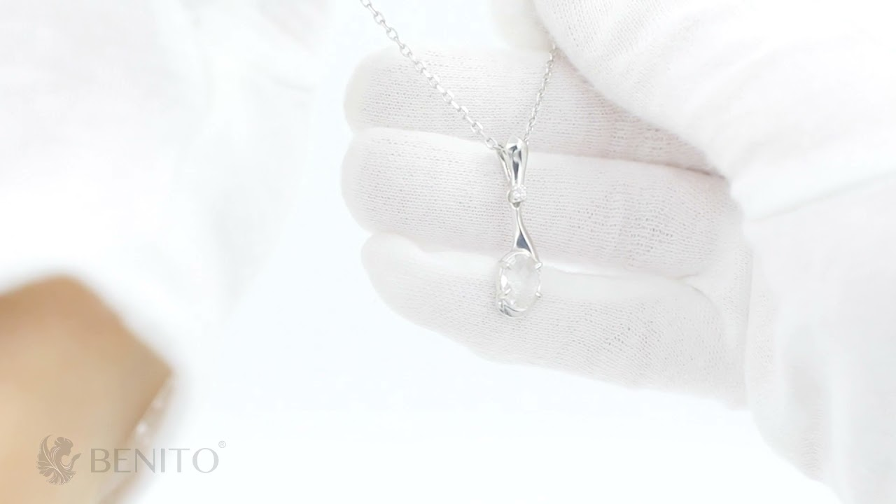 Sofia Pendant White Mountain Crystal Stone