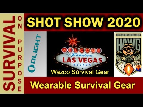 Wazoo Survival Gear - Wearable Survival Gear That Doesn't Look Dorky - SHOT Show 2020