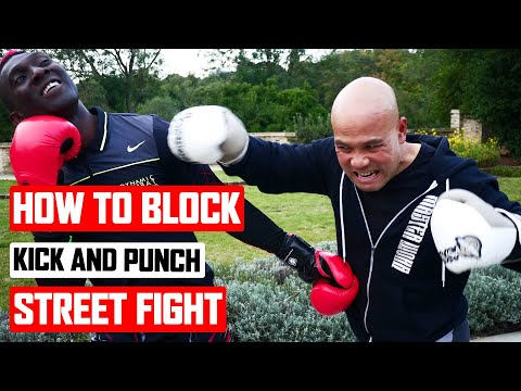 How to block fast kick punch in a street fight ✅