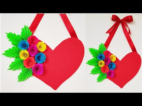 Download Thumbnail For Diy Heart Wall Hanging Paper Craft