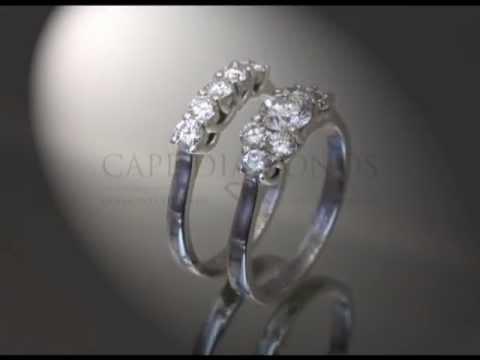 3stone,2 rings,platinum,engagement rings