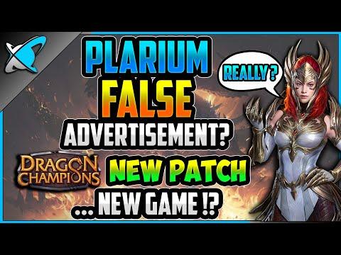 PLARIUM'S False Advertisement ?!? | Dragon Champions Patch News | New Game ?!?