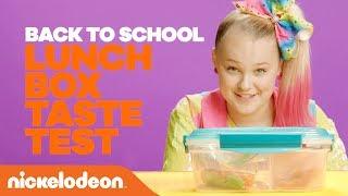 What's in Nick's Lunch Box?! 🎒 Back to School Taste Test ft. JoJo, Jordyn Jones & More @ VidCon 2018