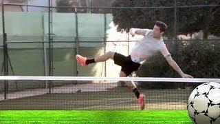 Nadal vs Cristiano Ronaldo?!! Tennis Footsy: A new sport is born width=