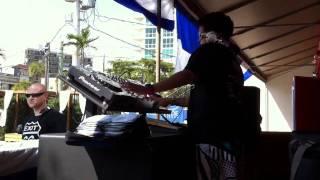 DJ Pat Pat on the turn table!