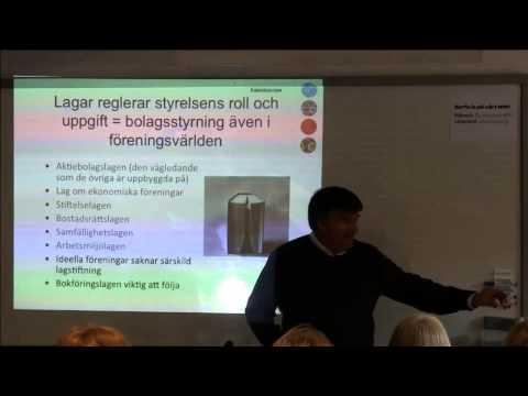 Utbildning i förenings- och styrelsefrågor - Del 1