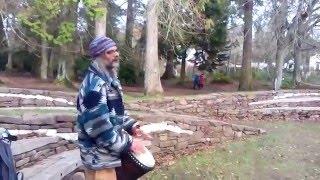 Alasdair Bodhran Drumming at River Ness Islands.