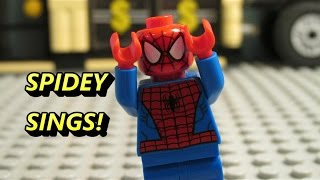 LEGO Spider-man Sings his own theme song (Ft. Superman)