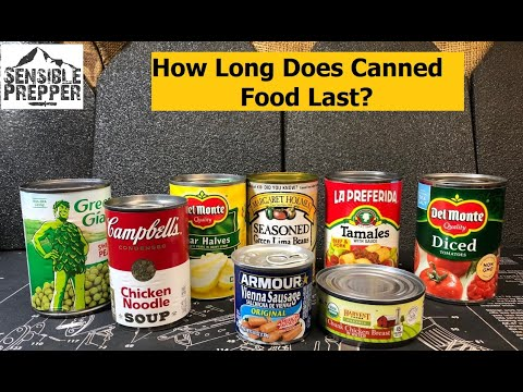 How Long Does Canned Food Last?  Survival Tip