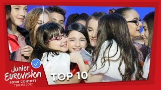 TOP 10: Most watched in May 2017 - Junior Eurovision Song Contest