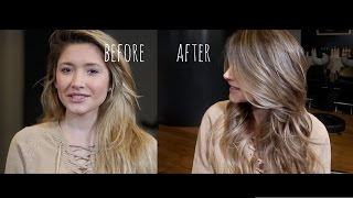 BLONDE TO BRUNETTE - COLOUR TRANSFORMATION - BALAYAGE
