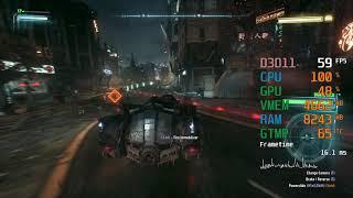 GeForce RTX 2060 -- Intel Core i5-6600K -- Batman Arkham Knight FPS Test