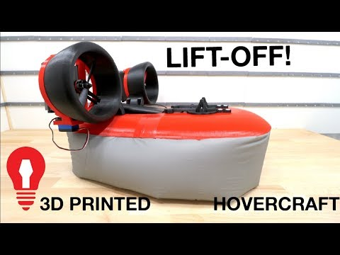 MAKING A 3D PRINTED HOVERCRAFT #4 - LIFT OFF!