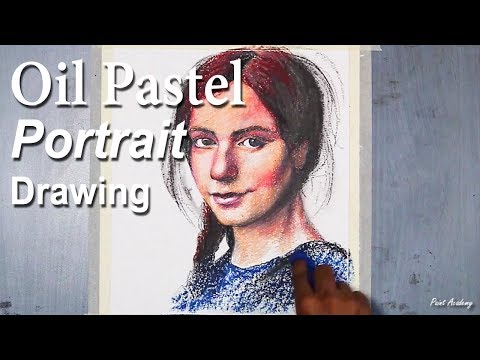 Oil Pastel Portrait Drawing | Painting A Girl