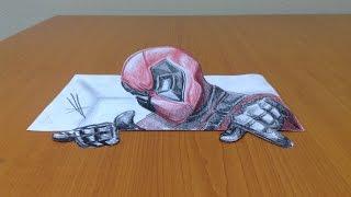 Deadpool 3D drawing