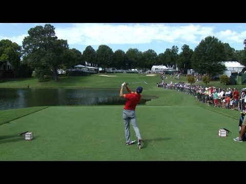 Jordan Spieth nearly aces No. 9 at the TOUR Championship