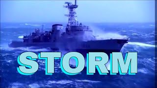 SHIP IN EXTREME OCEAN STORM (Epic TV Theme)