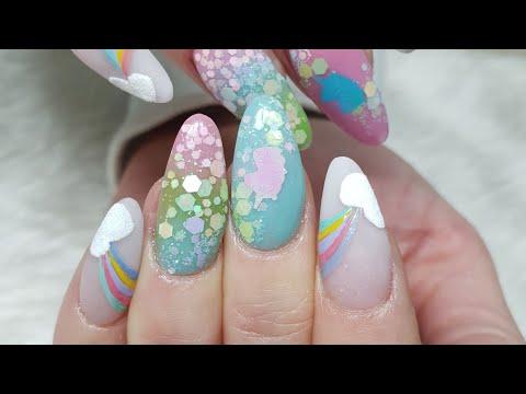Unicorn Rainbow Nails