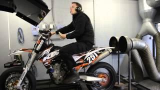 Dynojet testrun KTM 450 SMR, Klijnstra Motoren