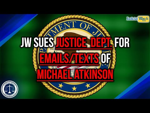 JW Sues Justice Dept. for Records of Intelligence Community Inspector General Michael Atkinson