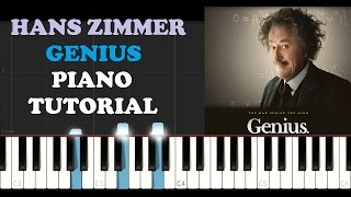 Hans Zimmer - Genius (National Geographic Soundtrack) (Piano Tutorial)
