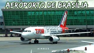 Decolagem de Aviões Airbus Tam e Avianca - Aeroporto de Brasília - Avião Decolando - Avião Airbus