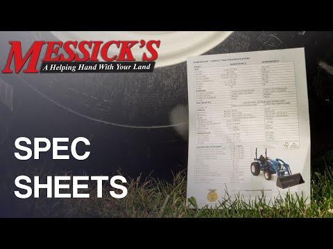 Understanding Equipment Spec Sheets Picture