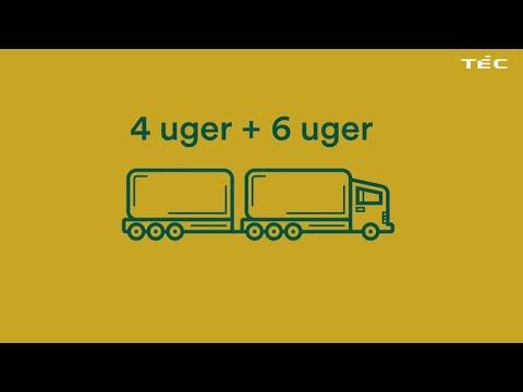 Få lastbilkørekort på 6 uger