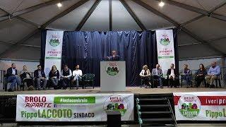 """Comizio lista """"Brolo Riparte"""" - Brolo 25.04.2019 - www.canalesicilia.it"""