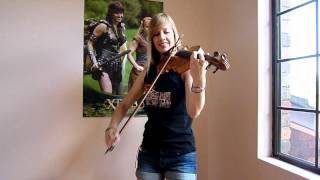 Lara plays Guile's theme from Street Fighter on violin