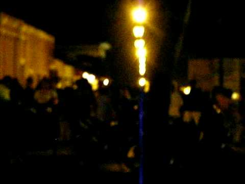 granada – plaza de  la independencia at night – singing group – far & shaky