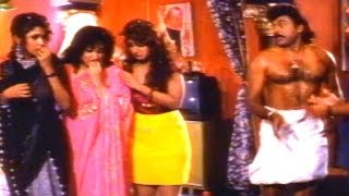 Alluda Majaka Comedy Scene - Sitaramudu First Night Scene - Chiranjeevi, Ramya Krishna, Rambha