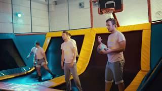 Verrücktes Trampolin Völkerball Turnier