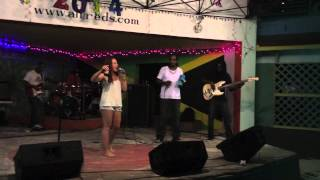 Taylor Kurta Peforming Cover of Matisyahu's One Day at Alfreds: Negril, Jamaica