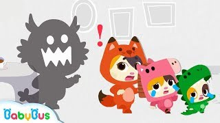 Run! The Biggest Monster is Coming | Baby Kitten Family | Kids Safety Tips | Kids Song | BabyBus