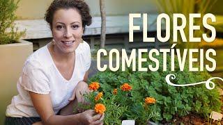 HORTA com flores COMESTÍVEIS