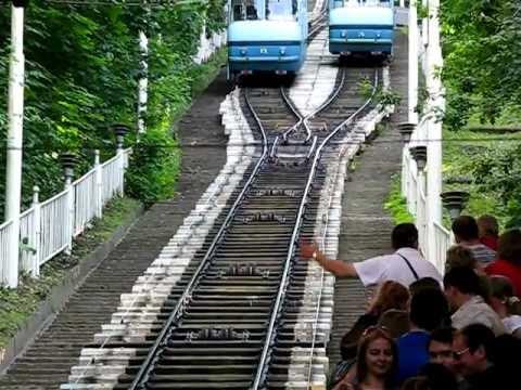 Funicular of Kiev city, Ukraine.
