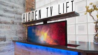 DIY Concrete Countertop w/ HIDDEN TV LIFT || How to Make