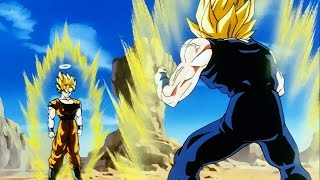 Goku y Vegeta se transforman en SSJ2
