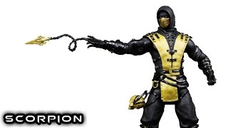 MEZCO Mortal Kombat X BLACK & GOLD SCORPION Figure Review