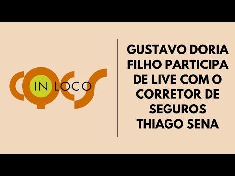 Imagem post: Gustavo Doria Filho participa de live com o corretor de seguros Thiago Sena