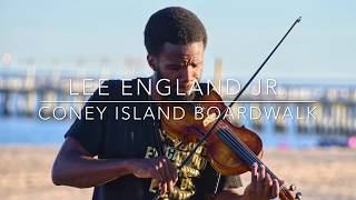 Lee England Jr. on  Coney Island Boardwalk