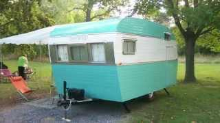 Vintage trailer restoration 1958 Trotwood camper